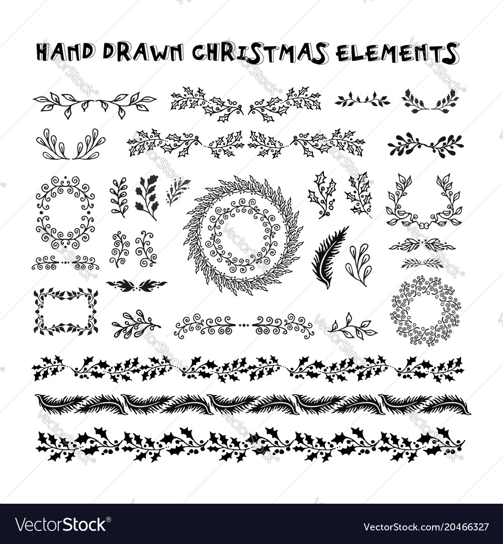 Collection hand drawn design elements