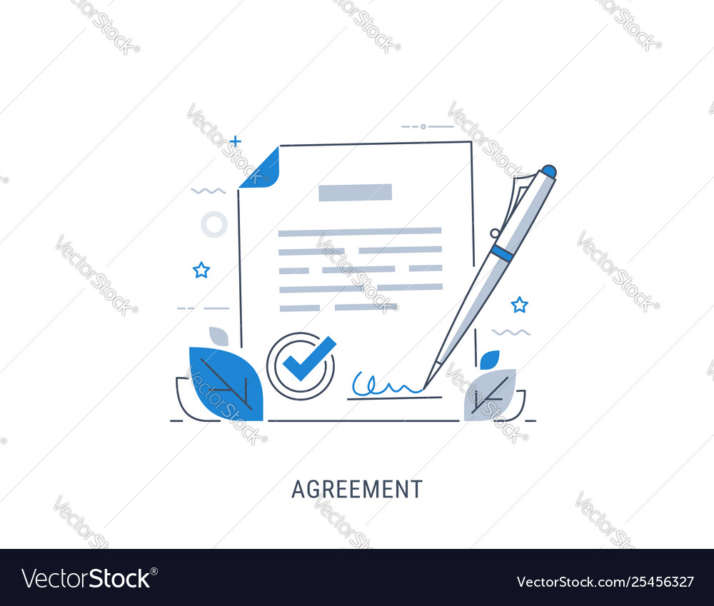 Document signing agreement