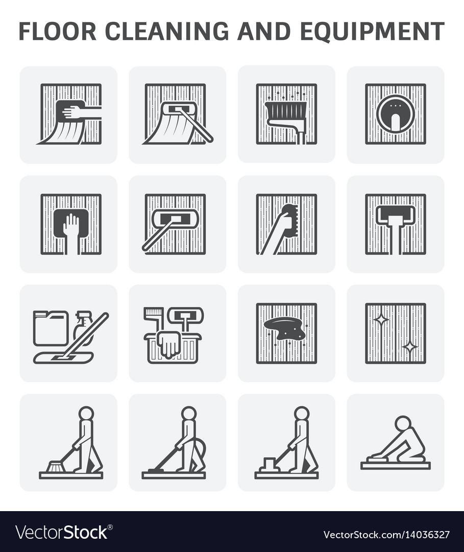 Floor cleaning icon