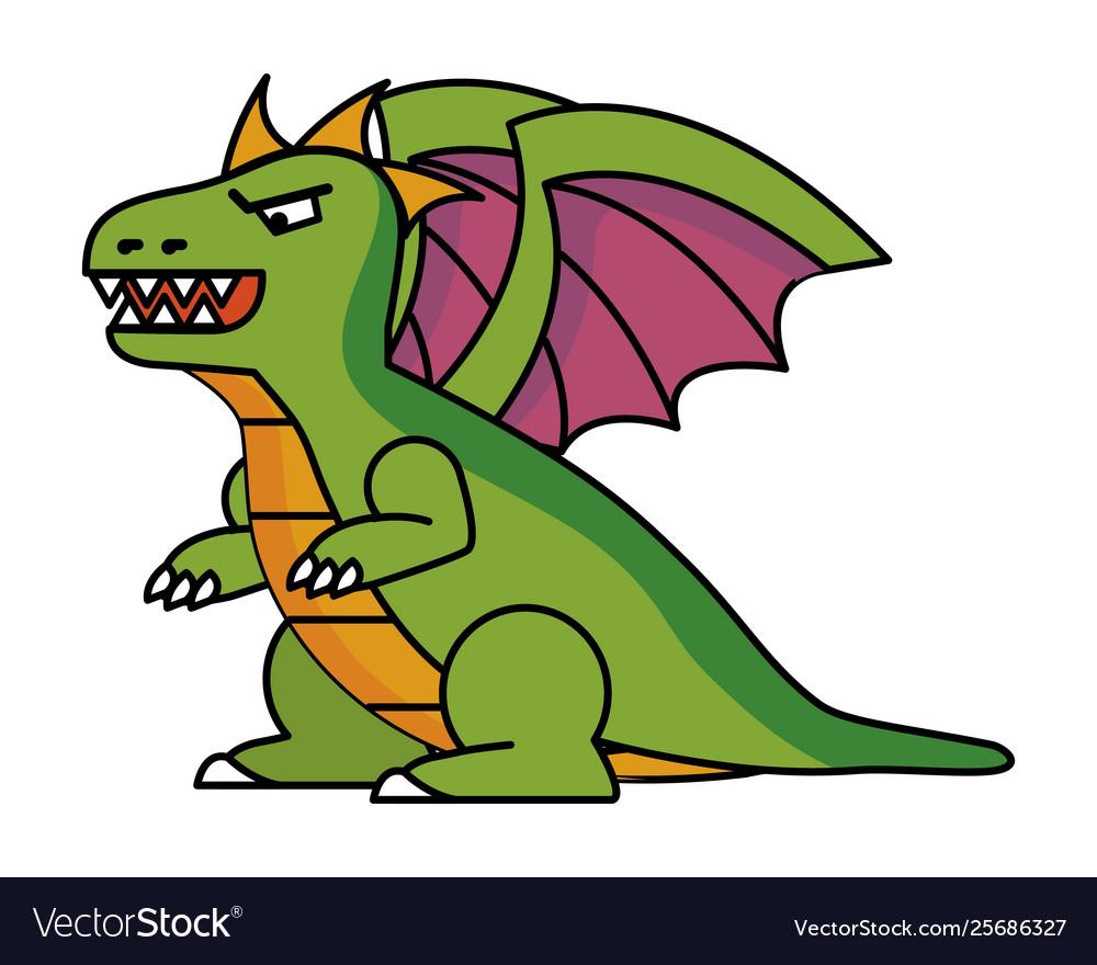 Isolated dragon cartoon design