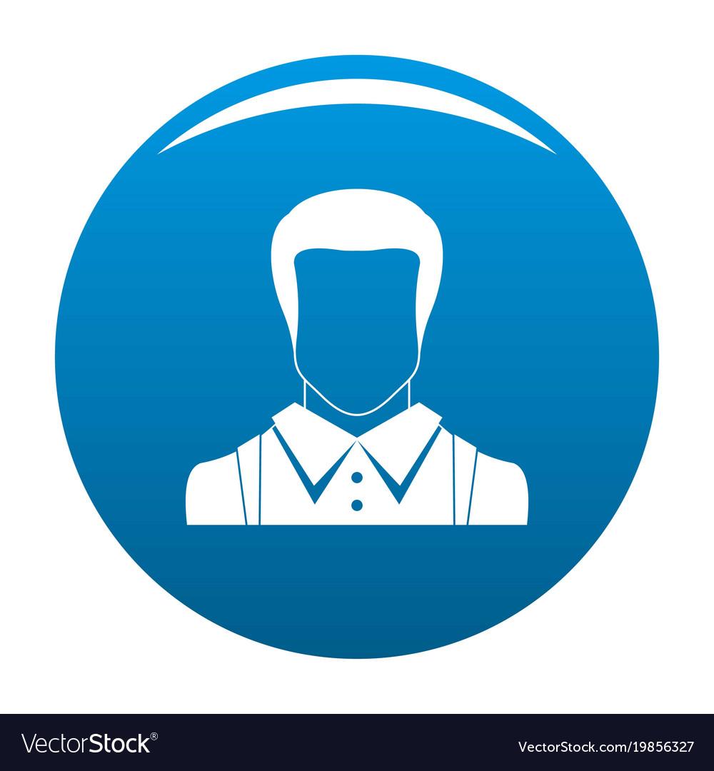 Man avatar icon blue