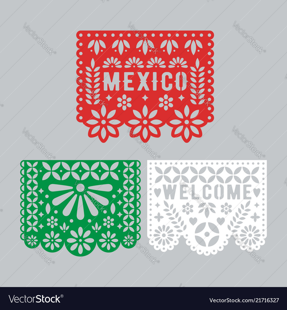 Papel picado set mexican paper decorations for