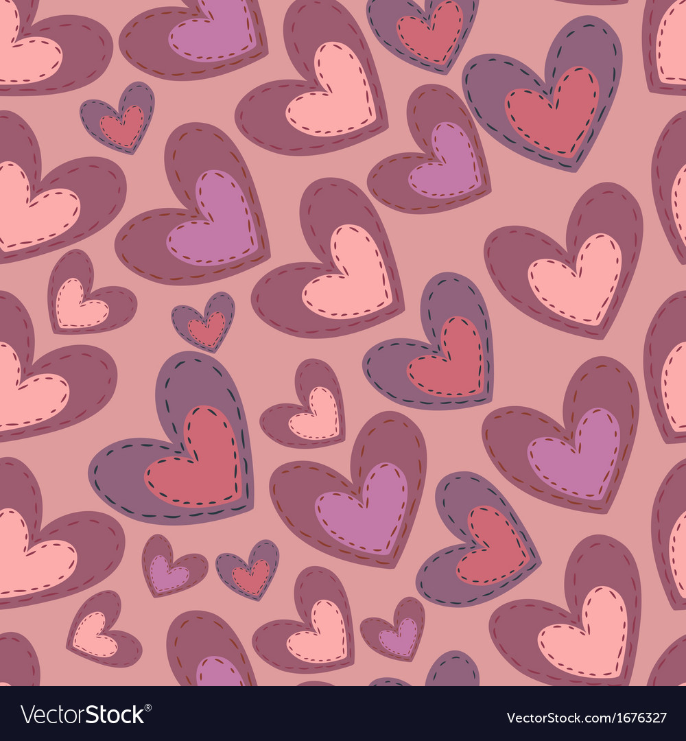 Seamless Valentines Day pattern with hearts