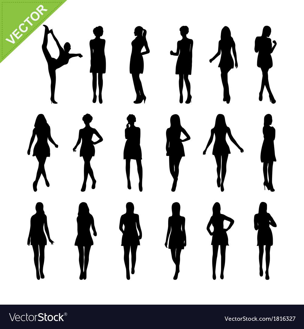 Sexy women silhouettes set 17