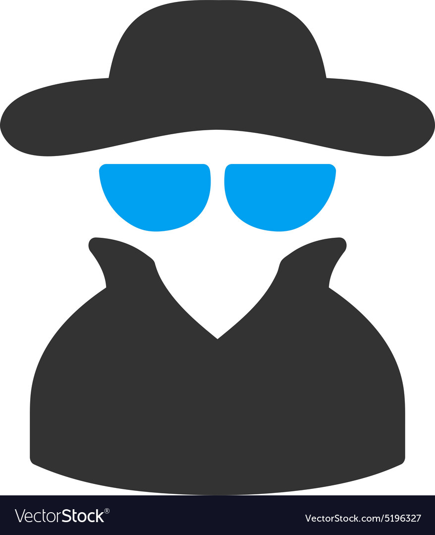 Spy icon from Business Bicolor Set vector image