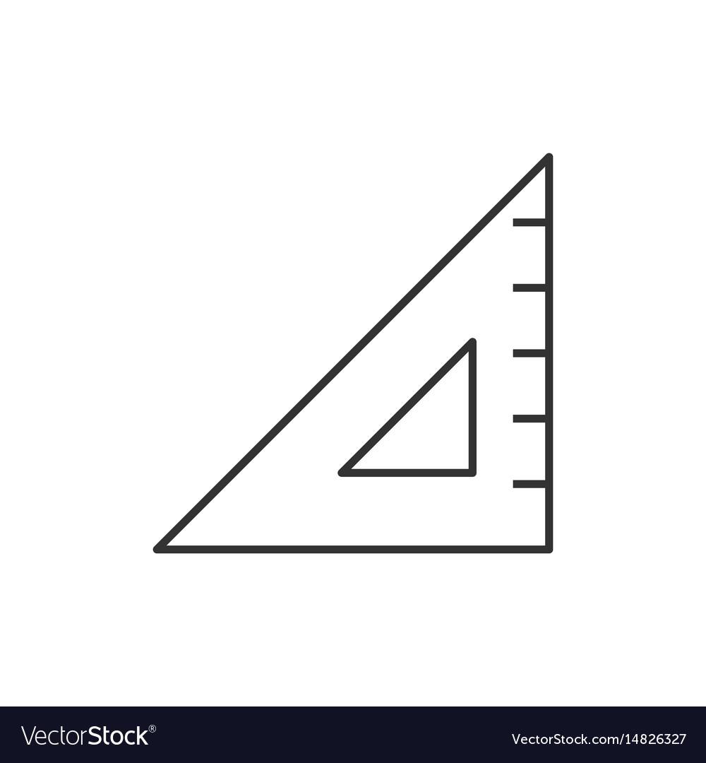 Triangular ruler line icon