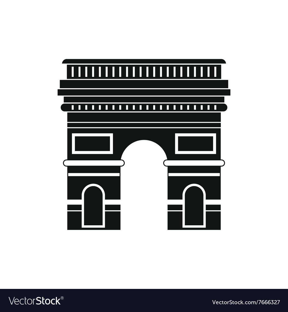 Triumphal arch icon simple style