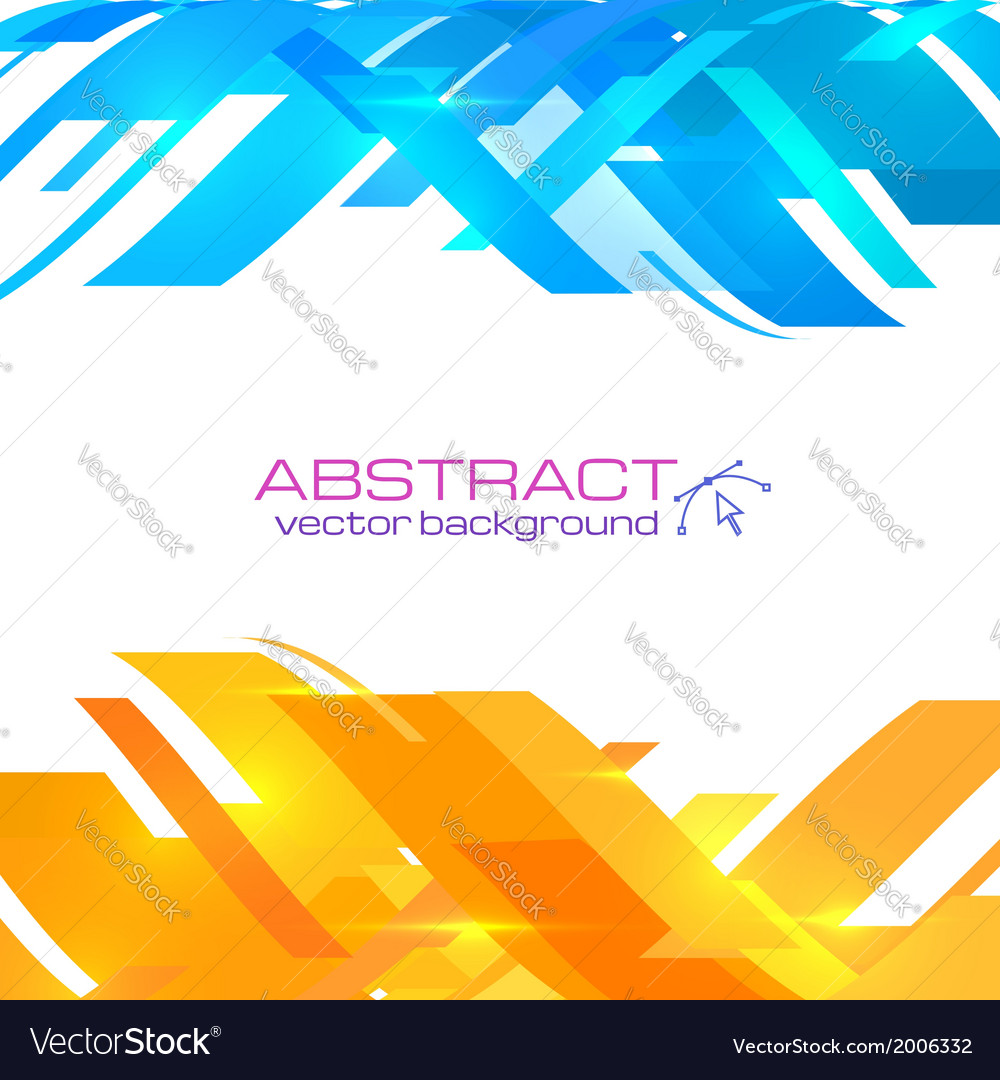 Abstract blue and orange background royalty free vector abstract blue and orange background vector image altavistaventures Images