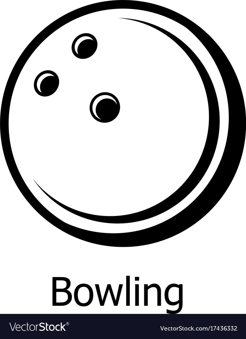 Bowling ball icon simple black style