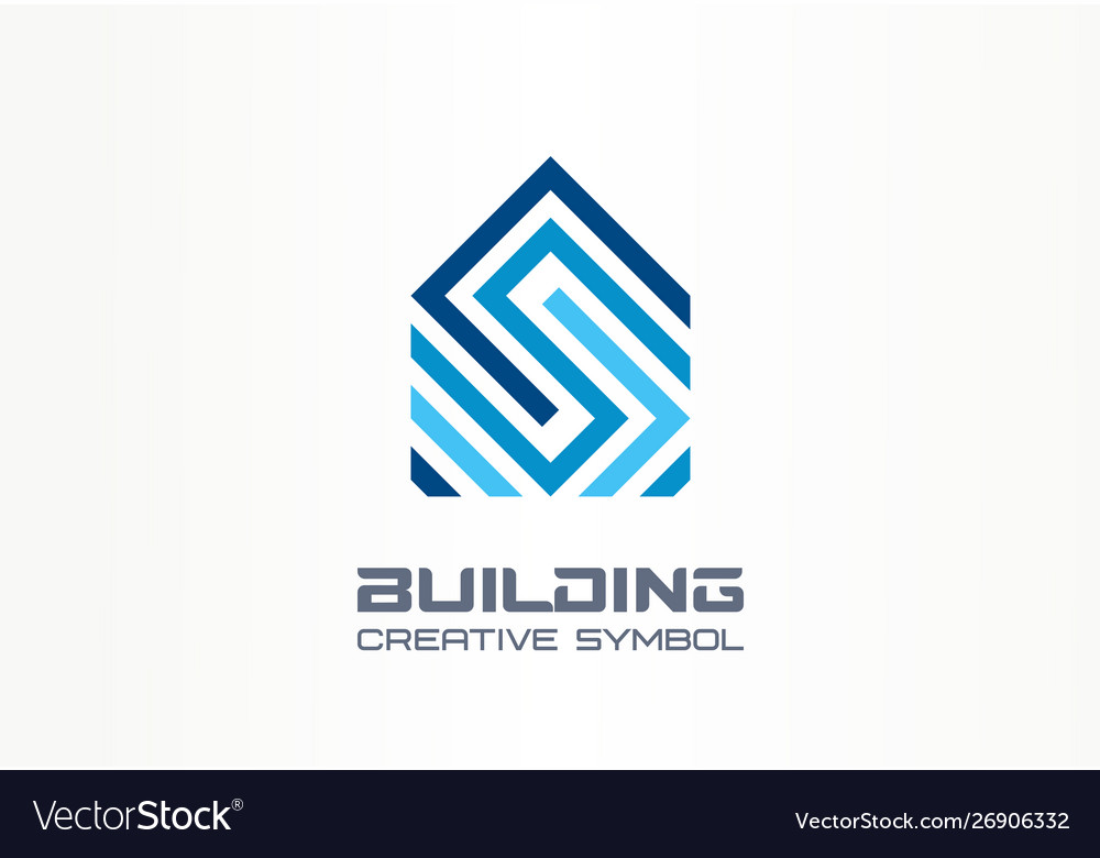 Building house construction creative symbol