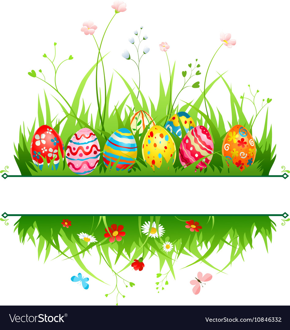 Easter frame Royalty Free Vector Image - VectorStock