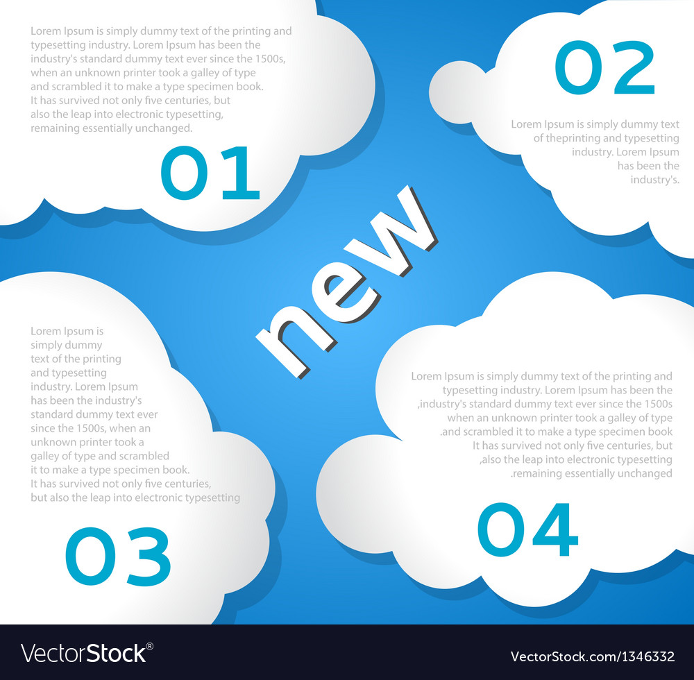 Funny Clouds Background vector image
