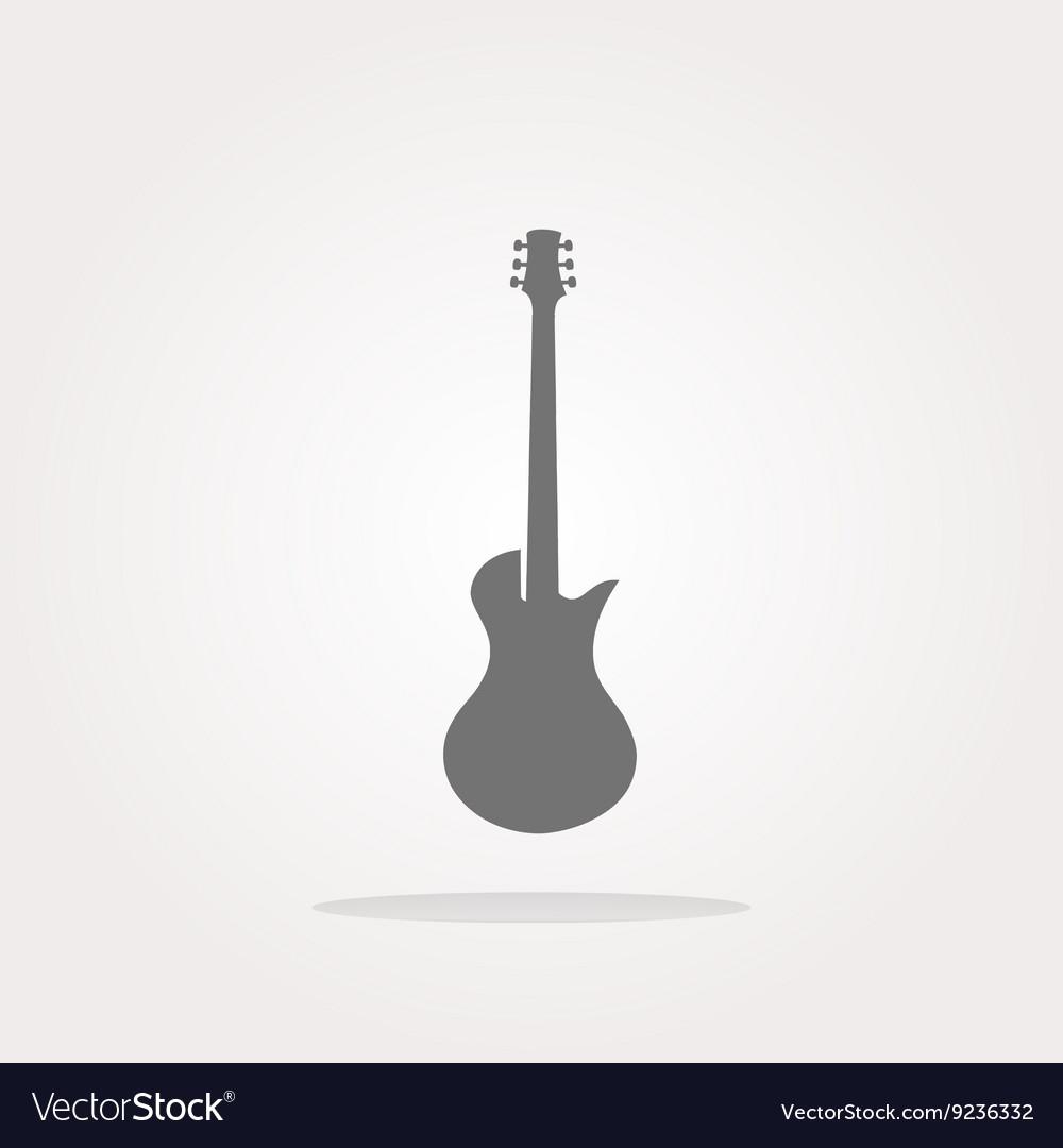 Guitar icon button isolated Web Icon Art
