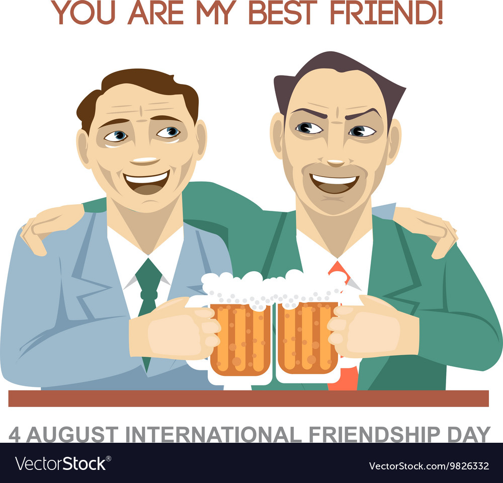 Happy friendship day card 4 August