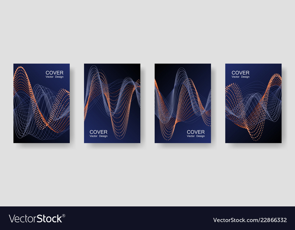 Music party posters with colorful dj equalizer