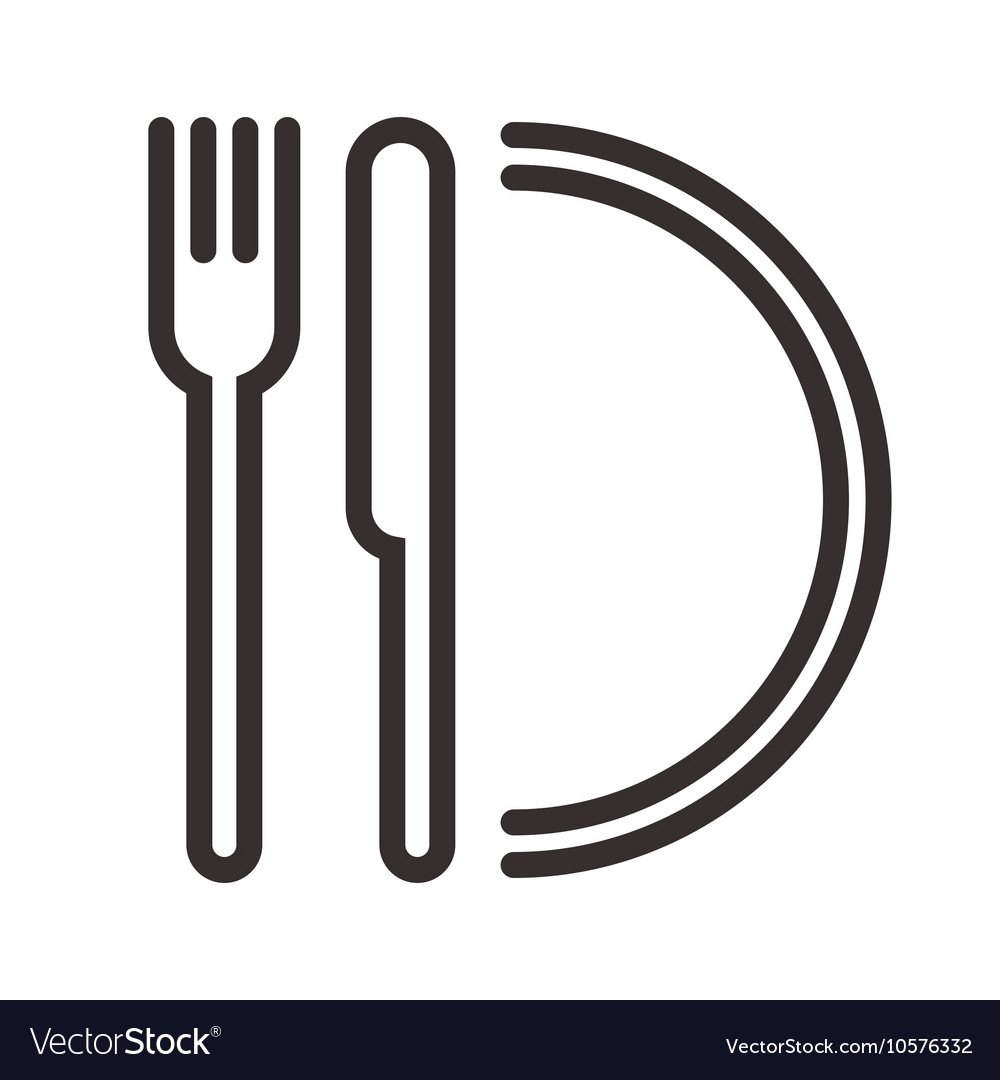 Plate knife and fork sign