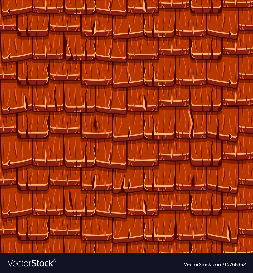 Seamless old red wood roof tiles