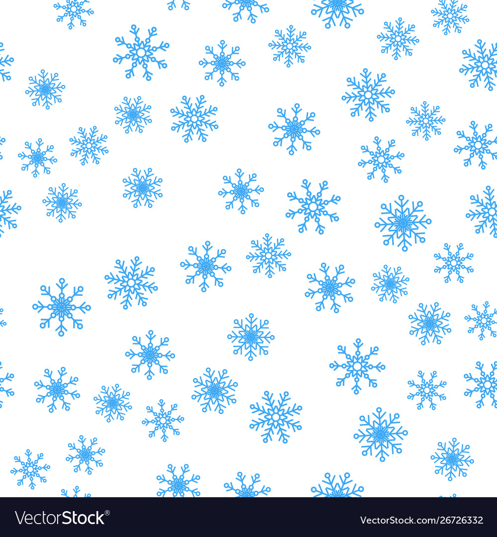 Seamless pattern winter snowflakes background