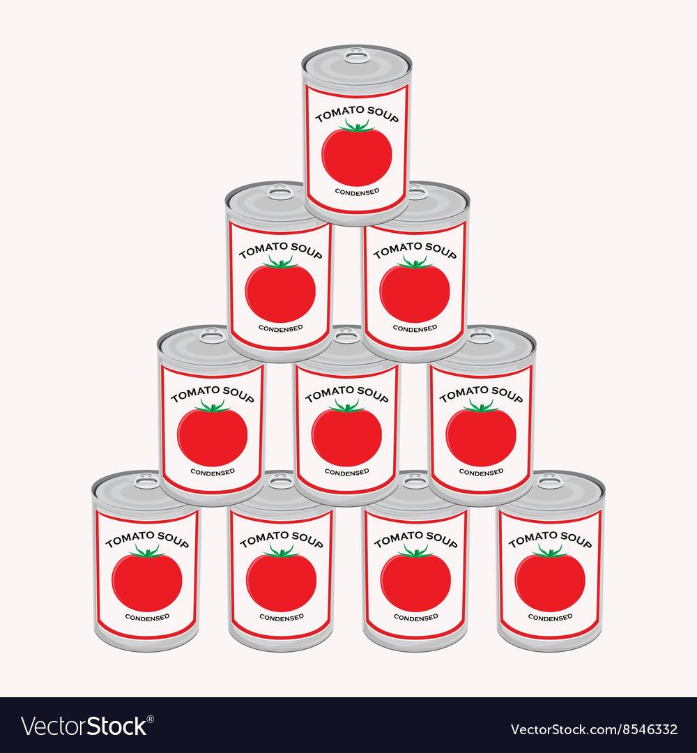 Tomato soup vector image