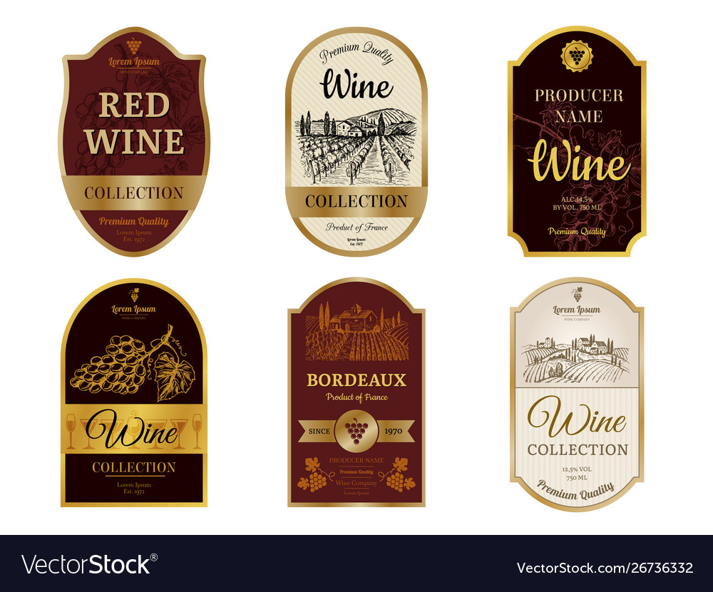 Wine vintage labels alcohol wine champagne drinks