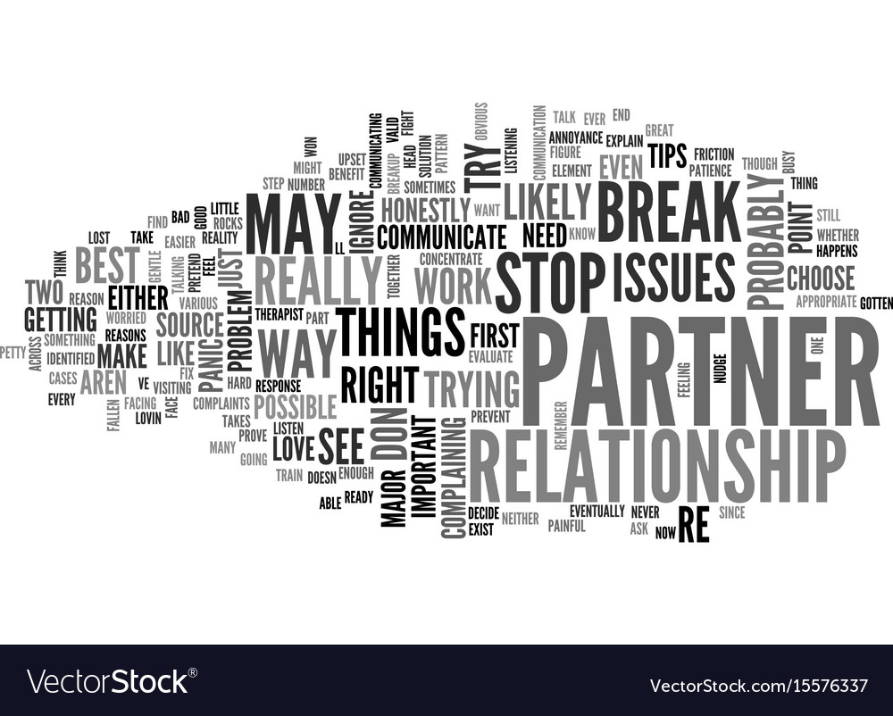 Best way how to stop a break up text word cloud vector image