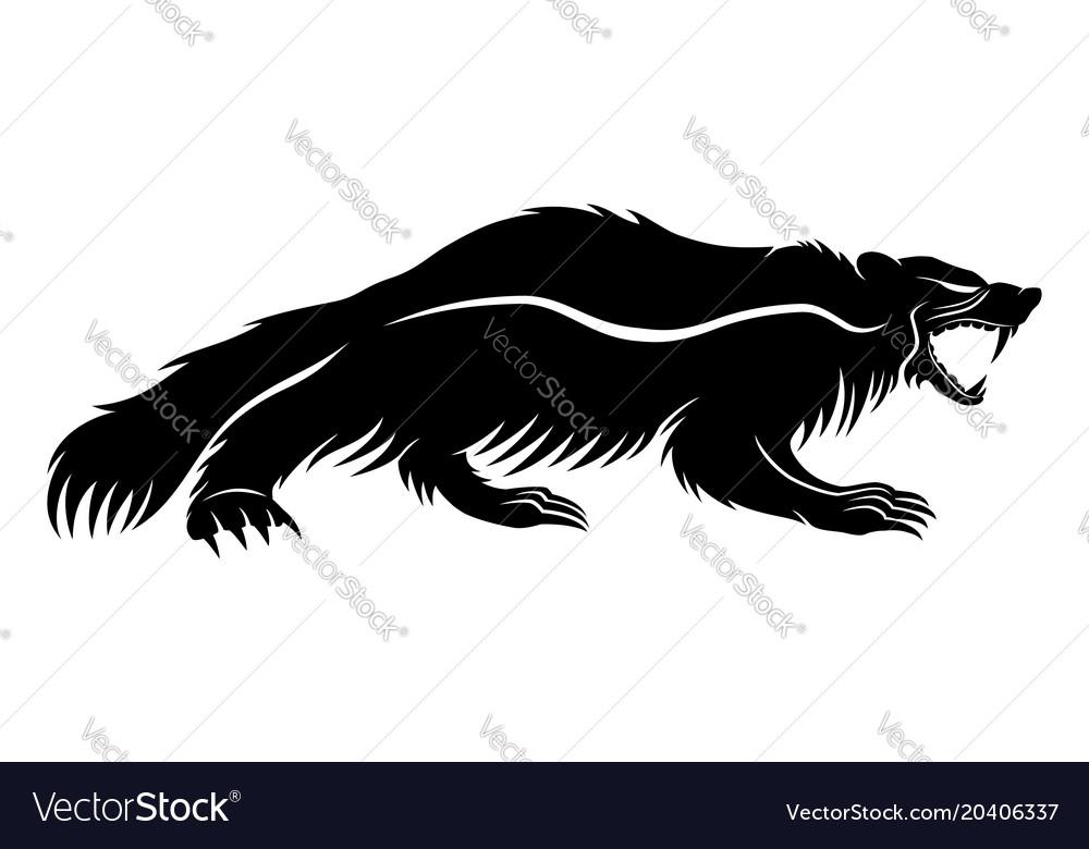 Black wolverine sign