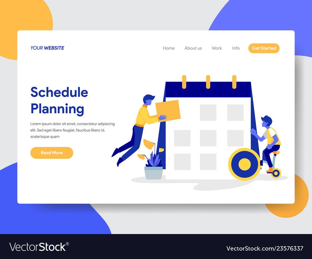 Businessman doing schedule planning
