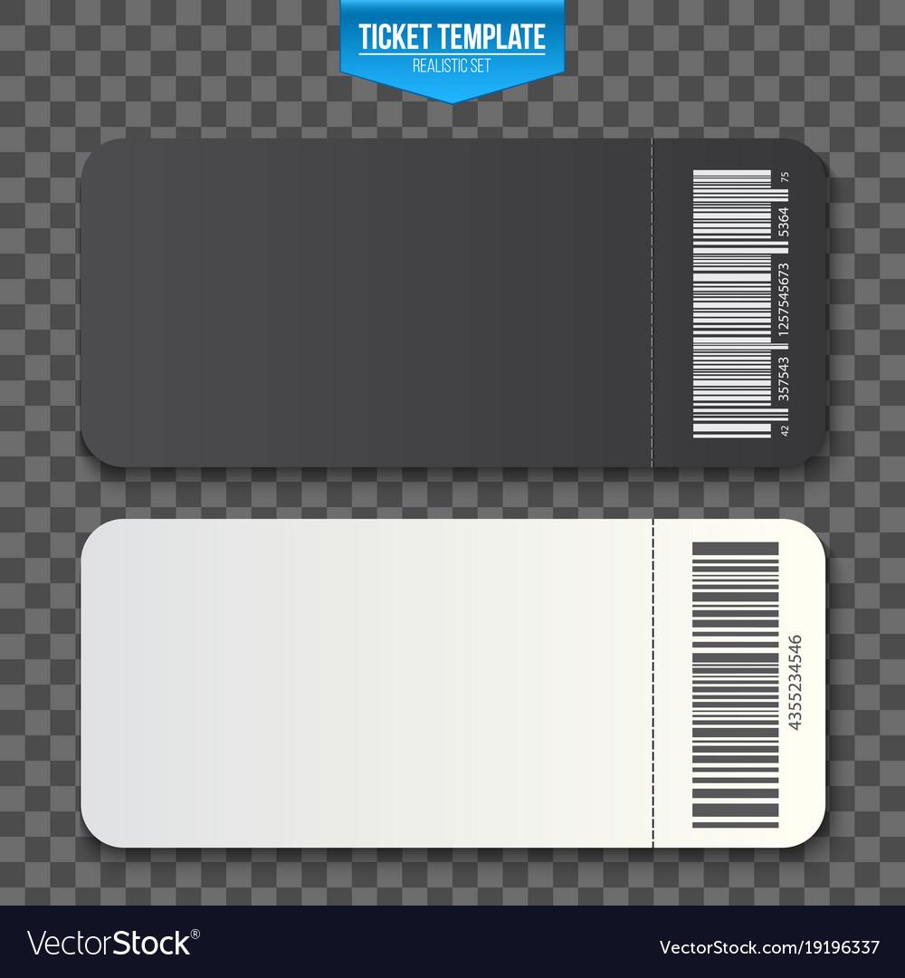 Creative of empty ticket vector image