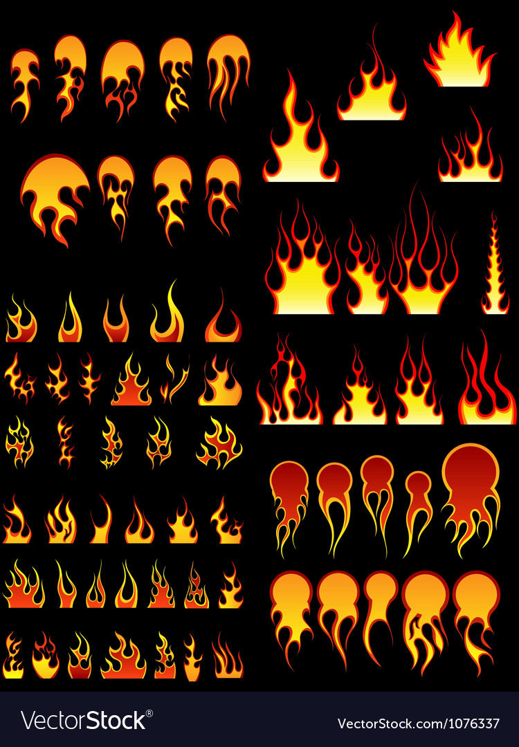 Fire Set vector image