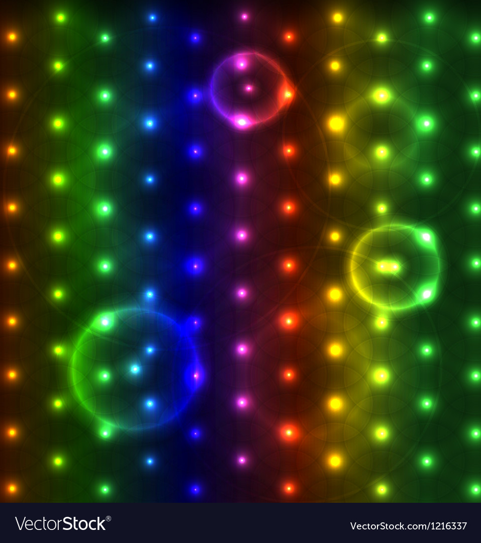 Glowing dots abstract background vector image