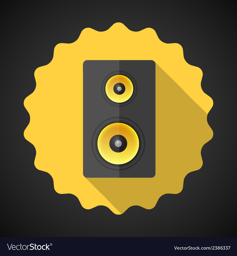Music Speaker Sound System Flat Icon vector image