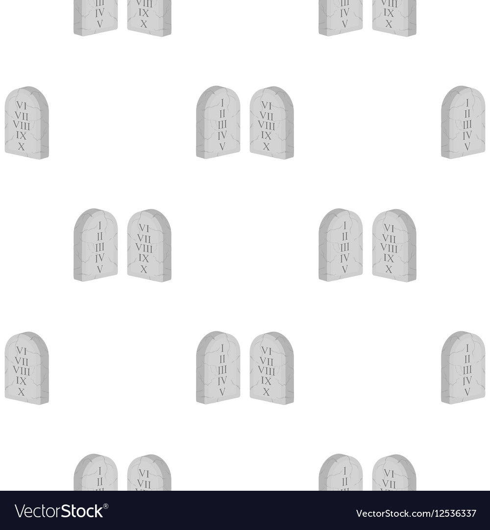Ten Commandments icon in cartoon style isolated on