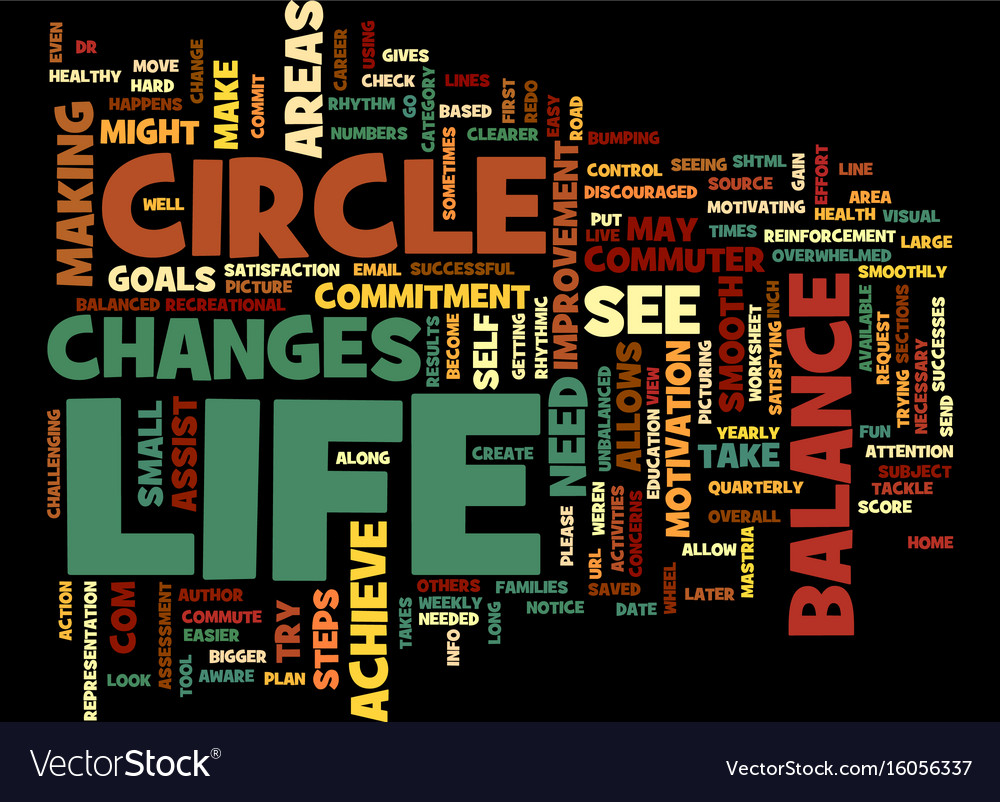 The circle of life the balance in life text