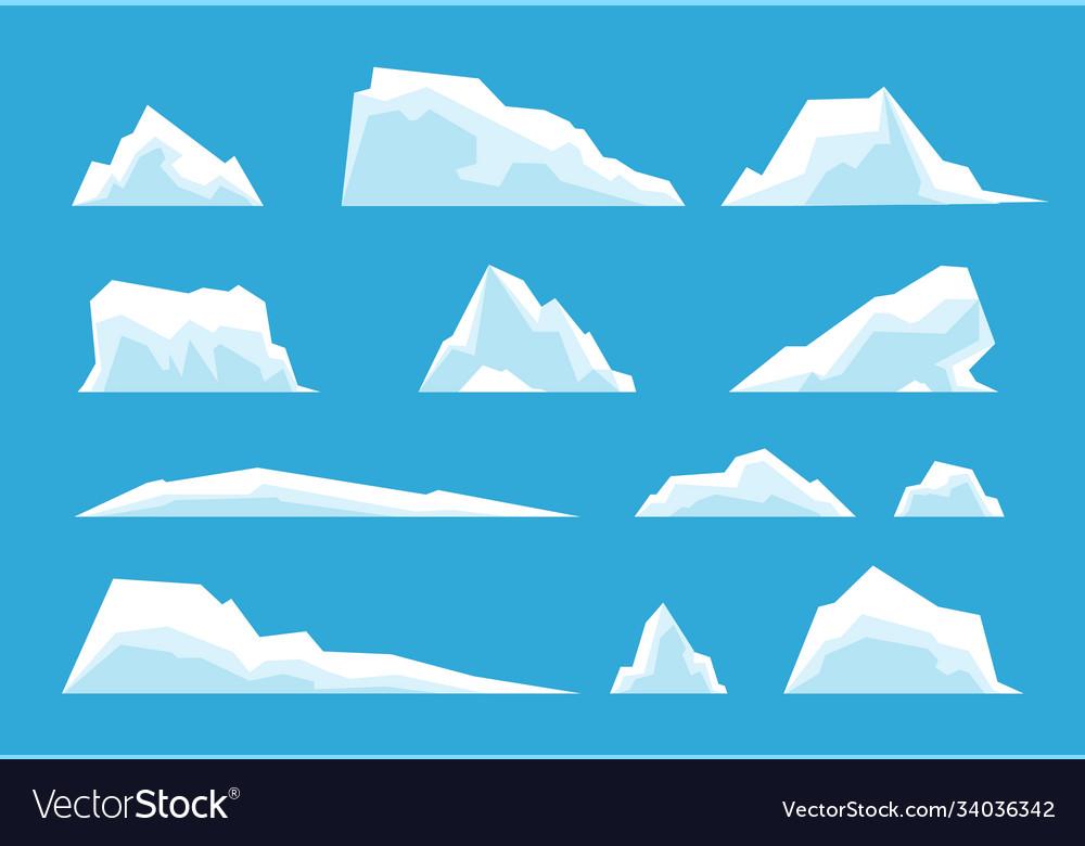 Arctic iceberg north pole travelling ice rock