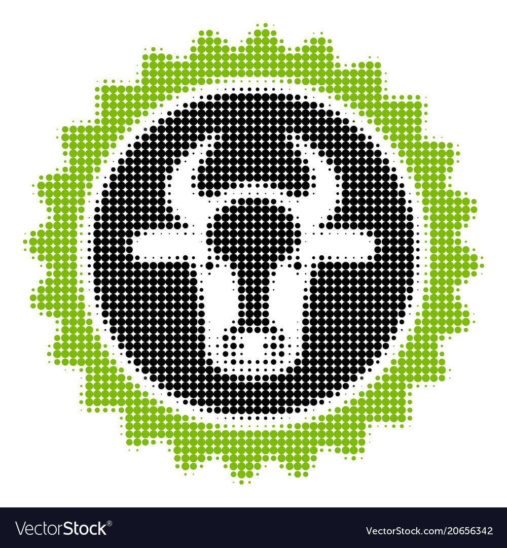 Beef Certificate Seal Halftone Icon Royalty Free Vector