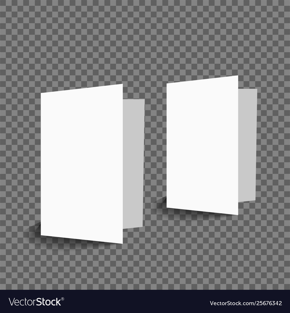 Blank two greeting card mockup