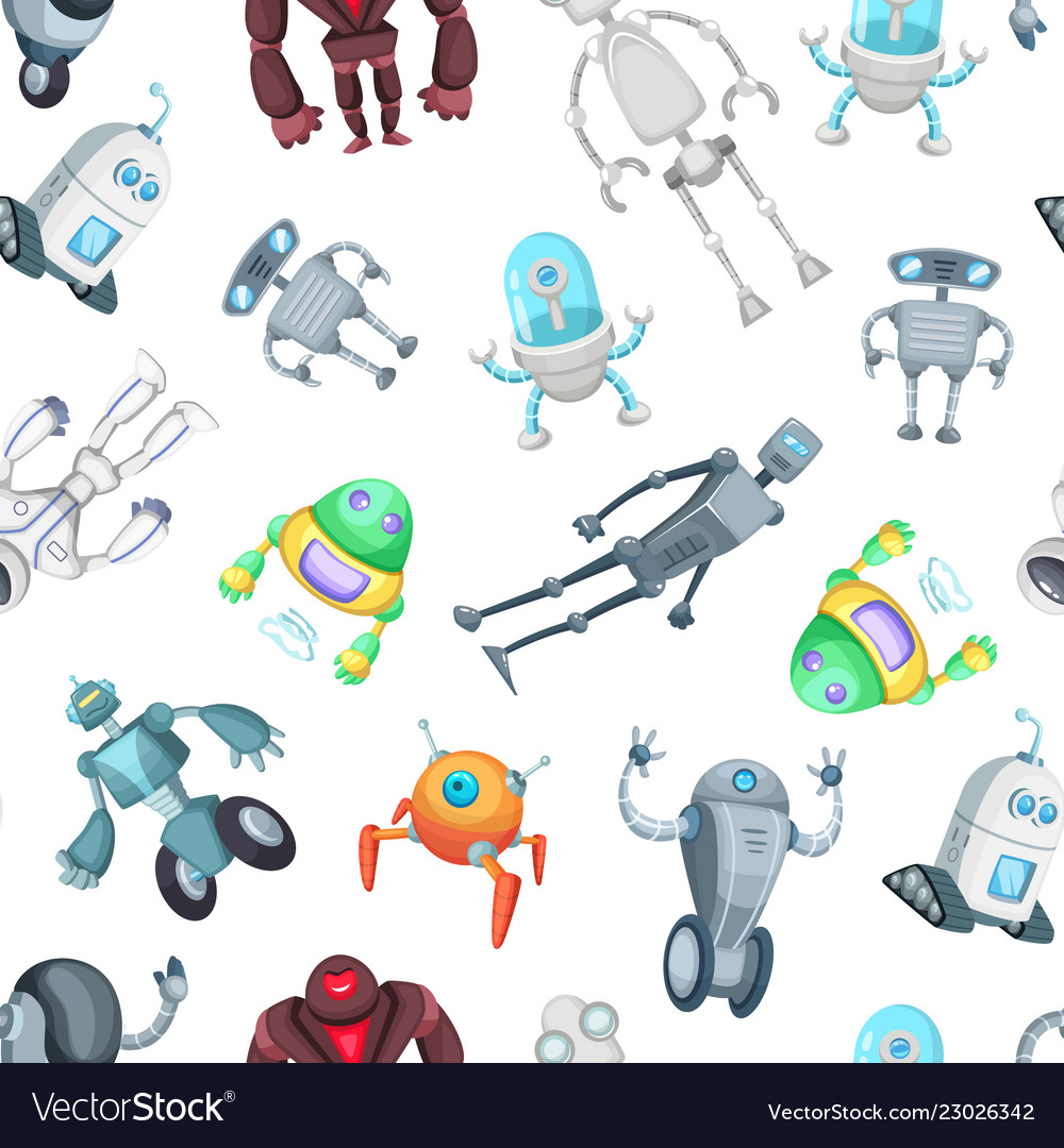 Cartoon robots pattern or background