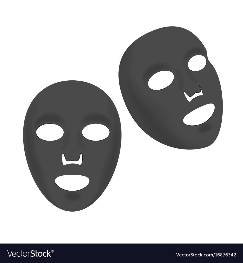 Cosmetic facial black sheet mask set Royalty Free Vector