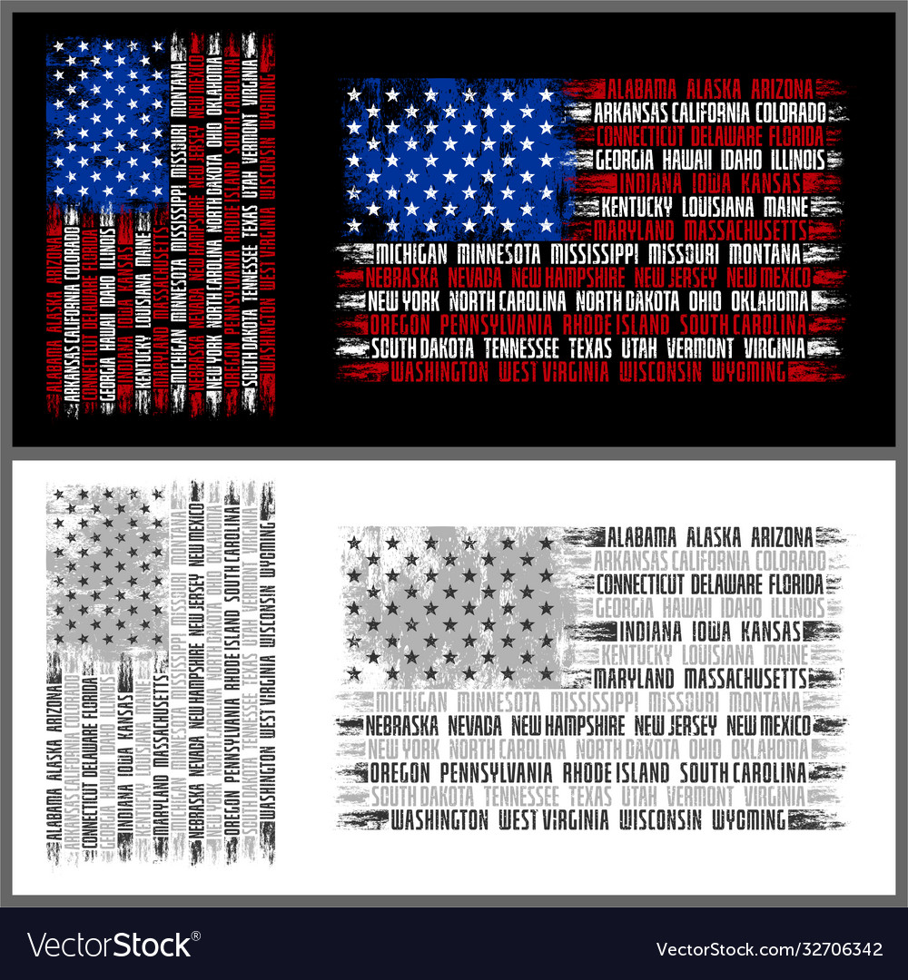 Flag states america - new 4000