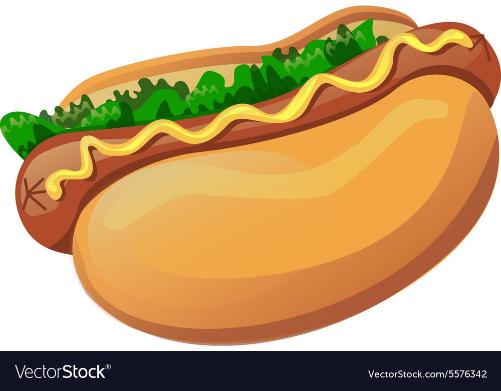 d523ab3c01e2 Hotdog Royalty Free Vector Image - VectorStock