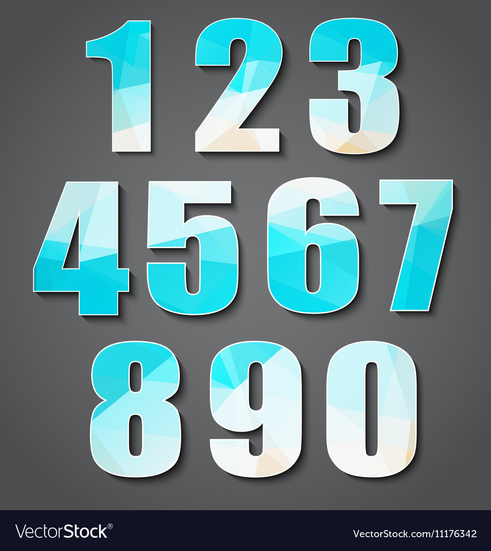Set polygon numbers from 0 to 9