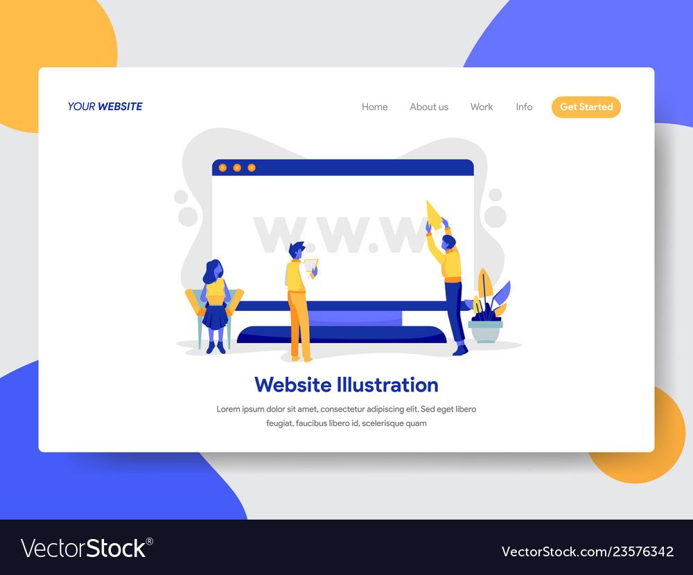 Website on desktop concept