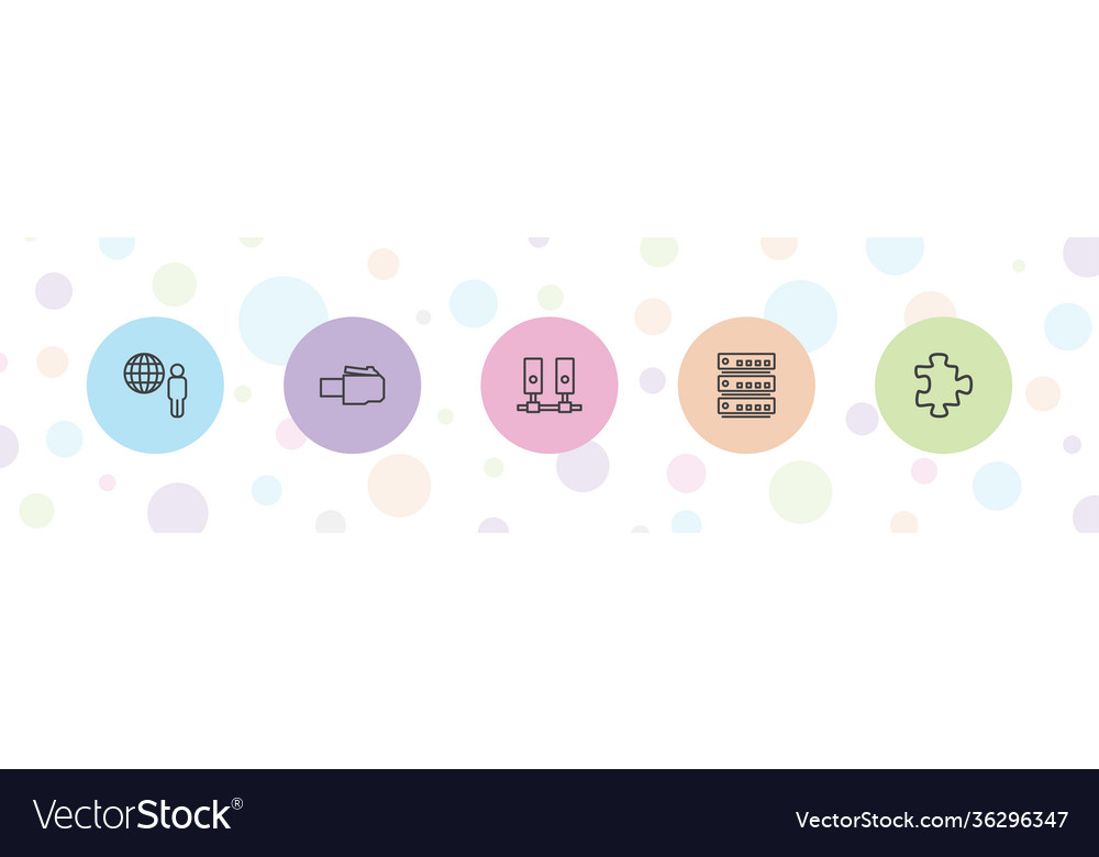 5 connection icons
