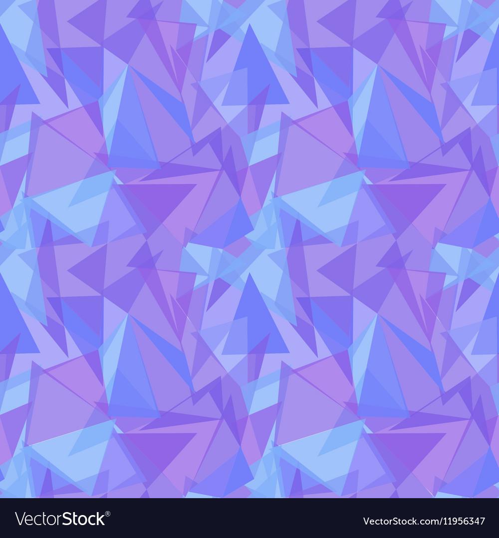 Abstract purple triangular seamless pattern