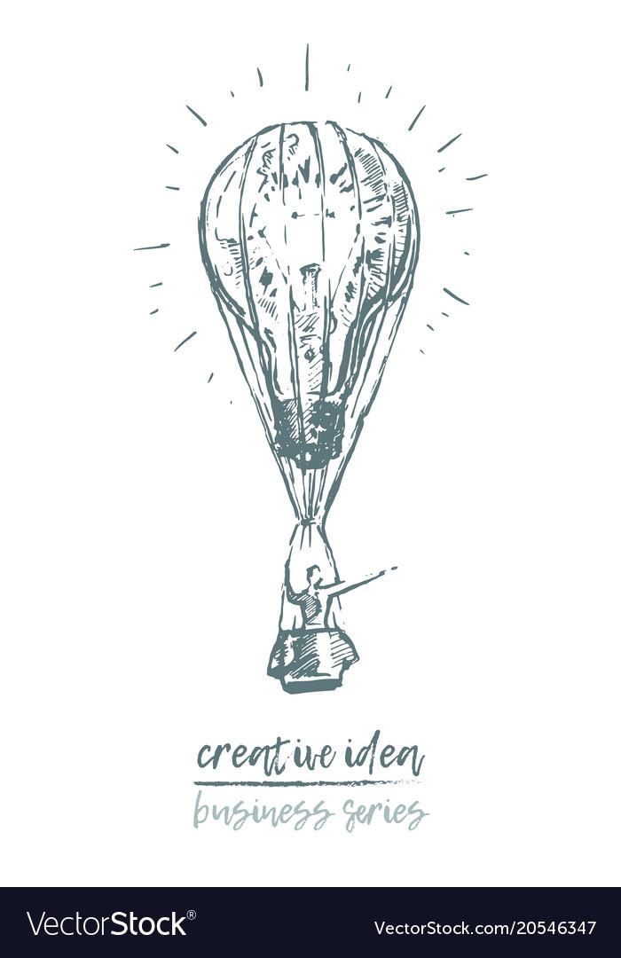 Business concept creative idea sketch