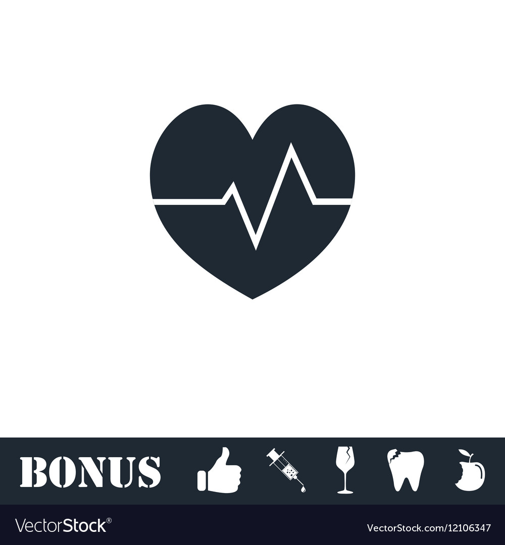 Cardiogram icon flat vector image