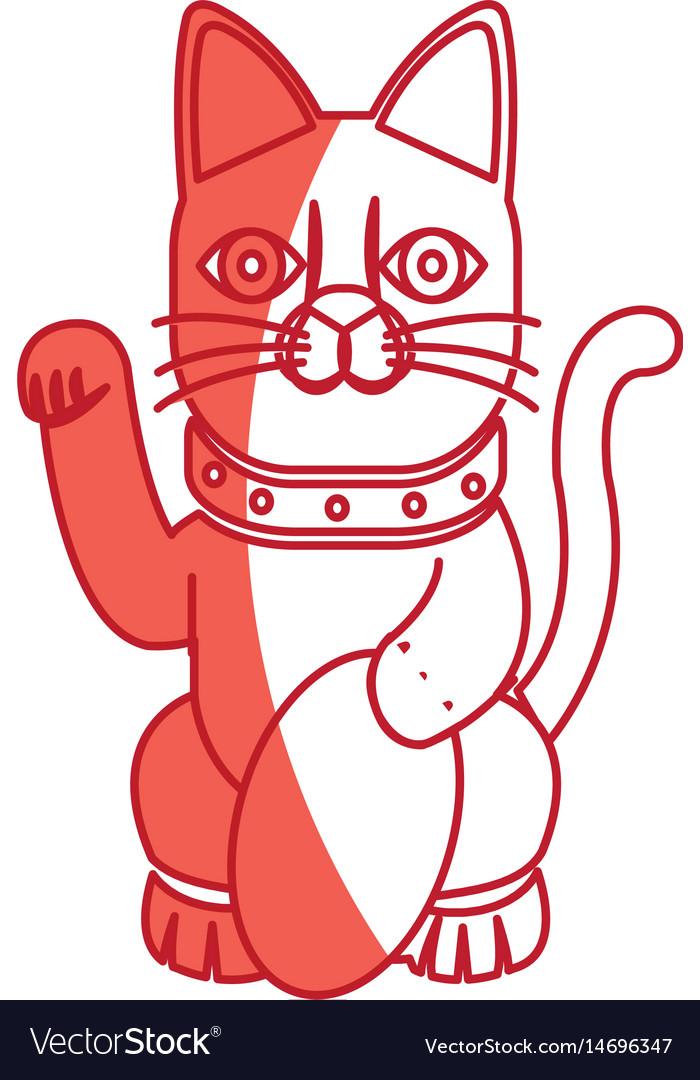 Cat maneki neko fortune money tradition japan