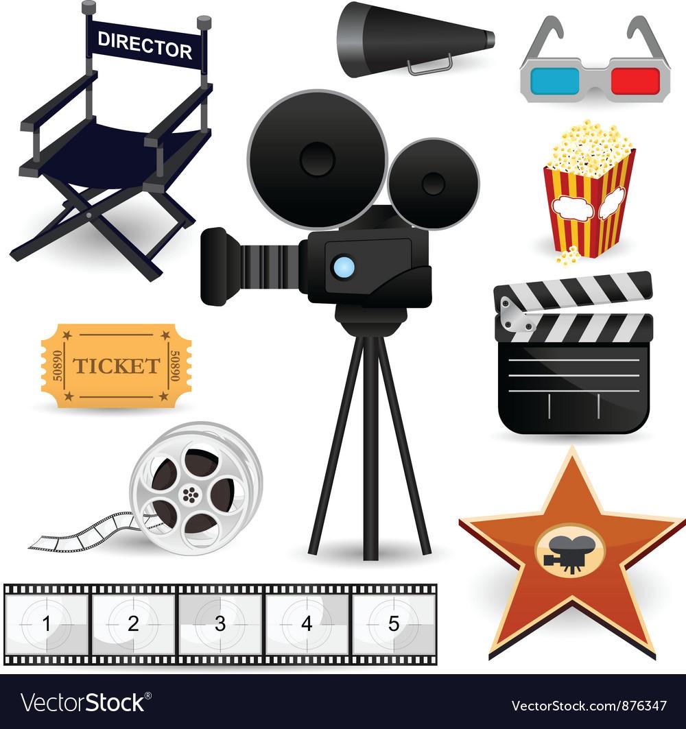Cinema Movie Icons vector image