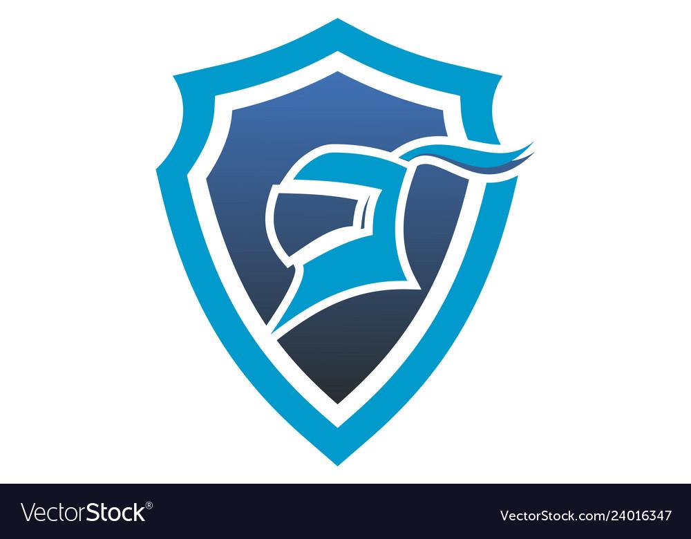 Harness shield protection logo icon