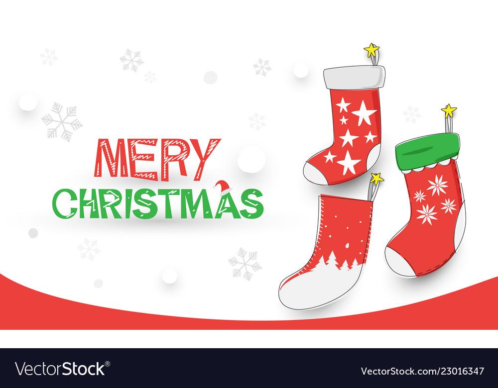 Merry christmas happy new year christmas socks